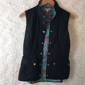 LILY PULITZER small quilted vest EUC